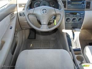 Pebble Beige Interior 2004 Toyota Corolla Ce Photo