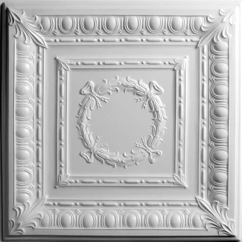 white tin ceiling tiles home depot ceilume empire white ceiling tile 2 x 2 lay in