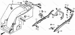 Honda Motorcycle 1983 Oem Parts Diagram For Grab Rail    Rear Fender