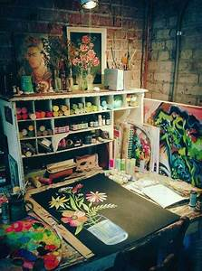 best 25 art studio design ideas on pinterest brainstorm With best brand of paint for kitchen cabinets with katie daisy wall art