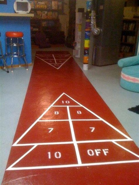 How to paint your own shuffleboard   Retro Renovation