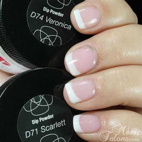 revel nail acrylic dip powder french   scarlett