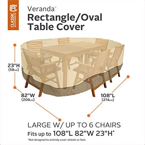 classic accessories veranda oval rectangular patio table