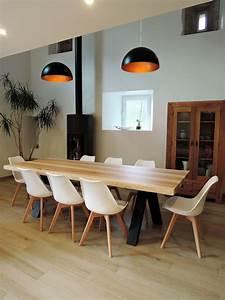 Table Bois Massif Metal : artmeta table viking metal et bois massif 1 copier artmeta ~ Teatrodelosmanantiales.com Idées de Décoration