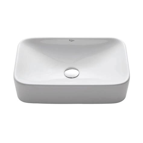home depot kraus sink kraus soft rectangular ceramic vessel bathroom sink in