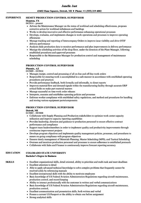 Production Supervisor Resume by Production Supervisor Resume Sles Velvet