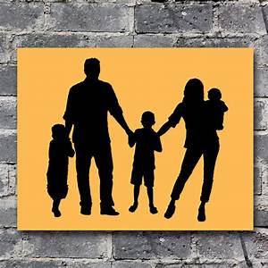 Custom Family Portrait Silhouette for 5 people by ...