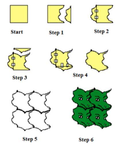 puzzle piece tessellation template