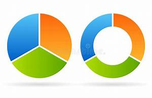 Three Part Round Diagram Stock Vector  Image Of Mining