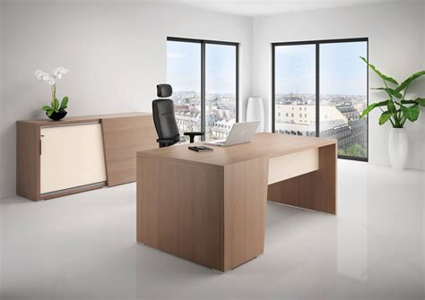 le de bureau halog e bureau direction b select coloris bois cèdre et table de