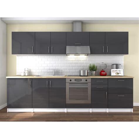 cuisine de a 0 z neo cuisine complète 3m laqué gris haute brillance