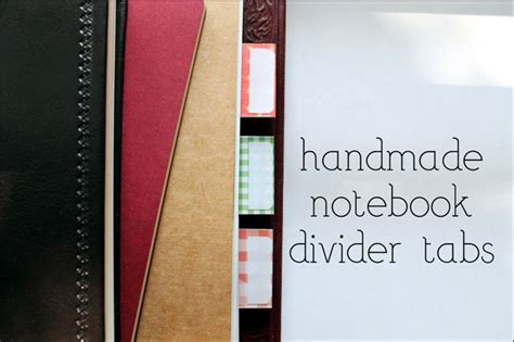 sticky divider tab image gallery notebook tabs