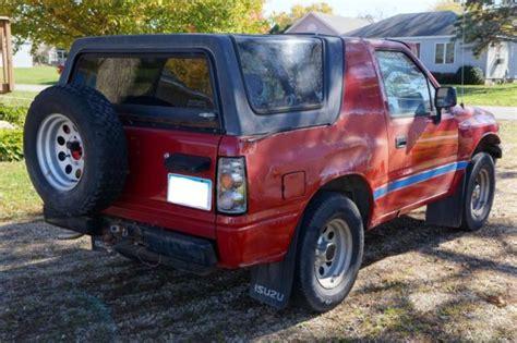 1991 isuzu amigo 1991 isuzu amigo 1st gen red 2 3l 4 cylinder 5 speed