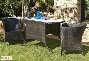 Salon Jardin Encastrable : salon jardin encastrable r sine tress e 2 places chocolat dcb garden ~ Maxctalentgroup.com Avis de Voitures