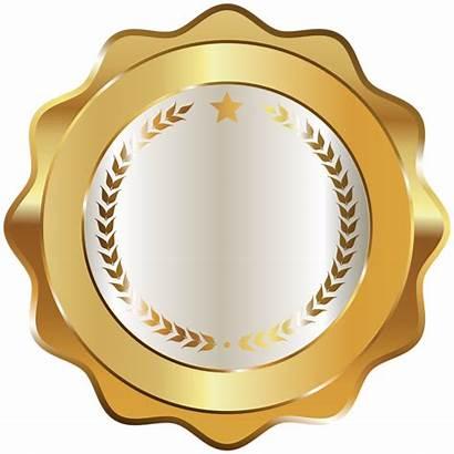 Badge Transparent Seal Gold Decorative Clipart Badges