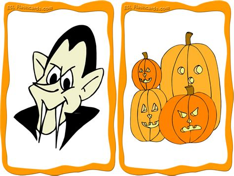 Printable Halloween Flashcards Set