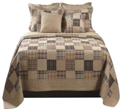 Quilt And Sham Set by Greenland Home Oxford Quilt Sham Set 3 King