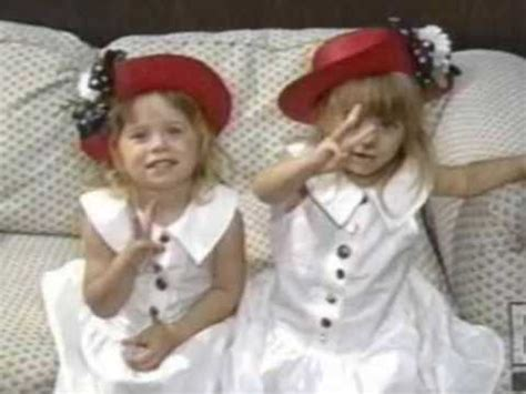 Mary Kate And Ashley Olsen Twins As Kids Youtube