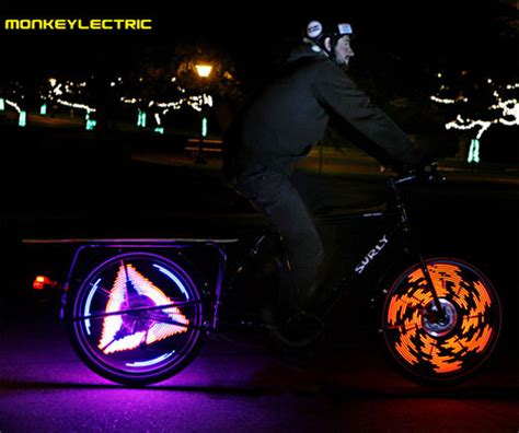monkey bike lights monkeylectric monkey lights make bike wheels fly through
