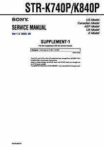 Sony Str-k740p  Str-k840p Service Manual