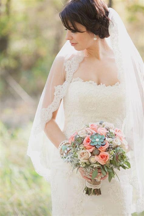 Aqua And Mint Green Wedding Boquet Green Pink Bouquet