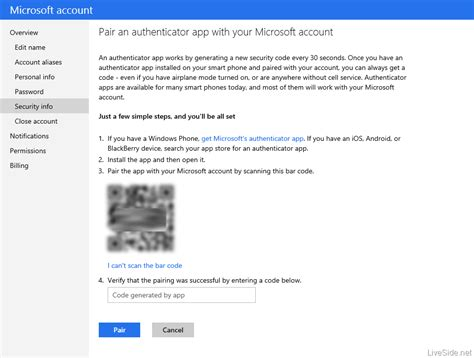 exclusive microsoft account to get two factor