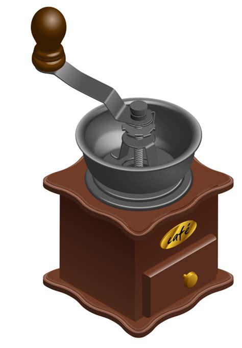 Free Manual Coffee Grinder Clip Art