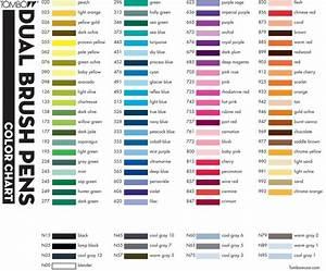 Tombow Dual Brush Markers Color Chart Google Zoeken