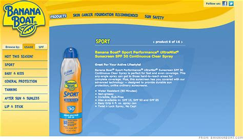 Banana Boat Sunscreen Recall List by Recall Sunscreen Could Burst Into Flames On Skin Oct