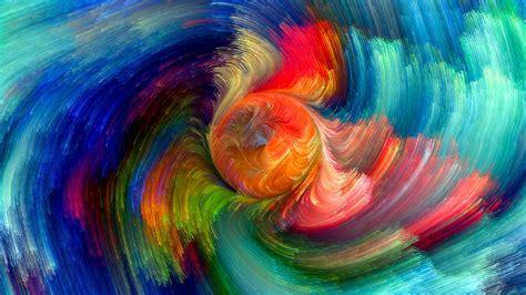 abstract Colorful Digital art Swirls CGI Circle