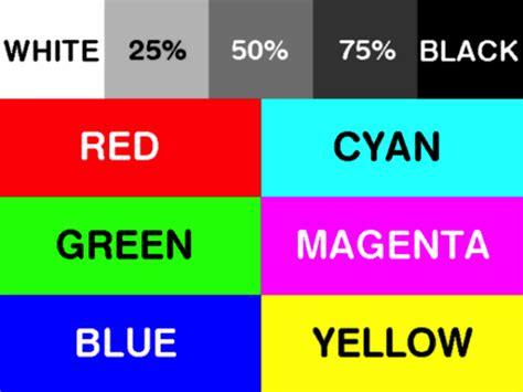 Printing Cmyk Test Labels