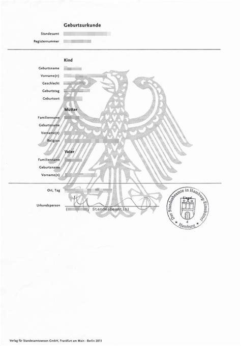 geburtsurkunde beglaubigte uebersetzung fuer standesamt