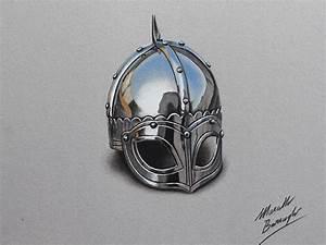 Marcello Barenghi: Viking helmet drawing