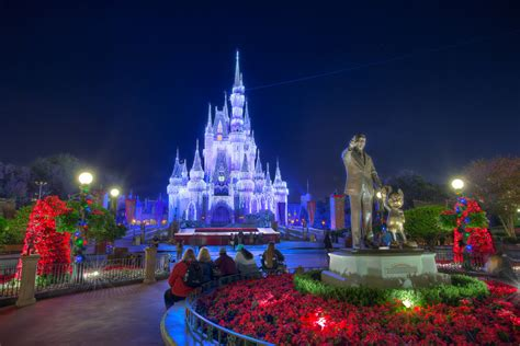 magic kingdom christmas castle jeff krause flickr