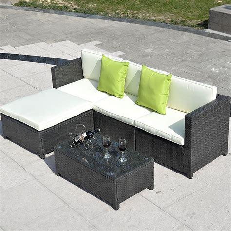 outdoor wicker sectional sofa set outdoor patio wicker sofa set 5pc pe rattan