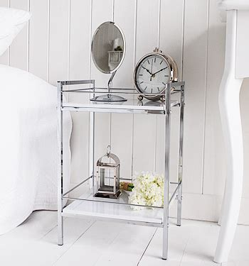 Chrome Bedroom Table Ls by White And Chrome Small Bedside Table White Bedroom Furniture