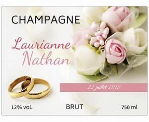 Etiquette Champagne Mariage : tiquette autocollante mariage imprimerie en ligne ~ Teatrodelosmanantiales.com Idées de Décoration