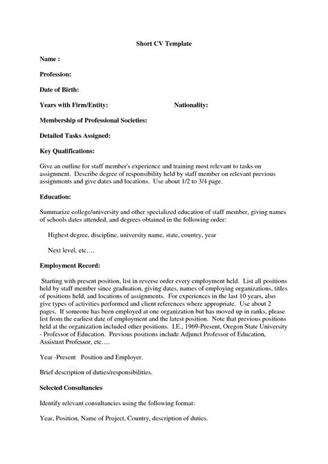 Brief Curriculum Vitae Exle by Best Photos Of Exles Of A Resumes Sle Resume Exles Sle Resume