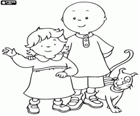 Caillou Coloring Pages Printable Games