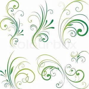 Rahmen Vorlagen Schnörkel : spring floral dekorative wirbelt vektorgrafik colourbox ~ Eleganceandgraceweddings.com Haus und Dekorationen