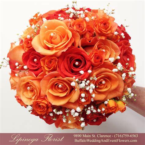 orange wedding flowers buffalo wedding event flowers