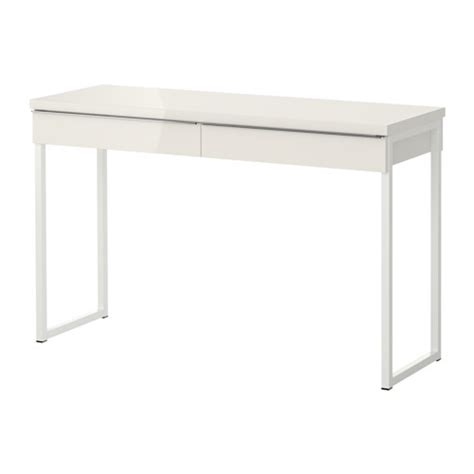 desk 40 inches long bestå burs desk high gloss white 120x40 cm ikea