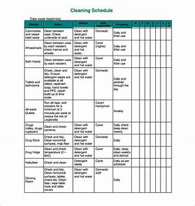 domestic cleaning schedule template hospinoiseworksco With domestic cleaning schedule template