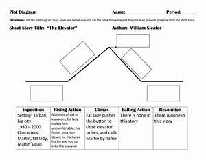 Story Plot Diagram Graphic Organizer