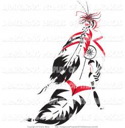 Native American Indian Feathers Clip Art