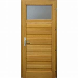 Porte De Service Leroy Merlin : porte de service bois thiers poussant droit x ~ Melissatoandfro.com Idées de Décoration
