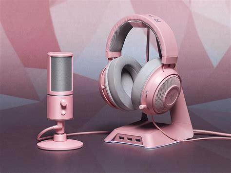 razer quartz pink gaming accessories laptop detailed