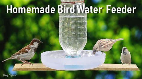 bird water feeder diy homemade plastic