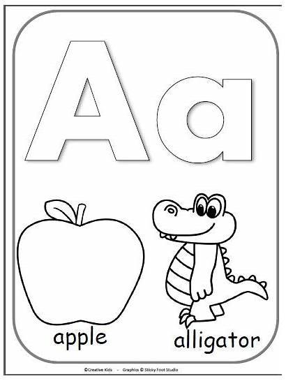 Letter Alphabet Coloring Cards Pages Kindergarten Preschool