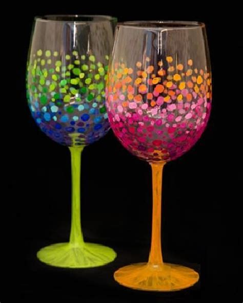 colorful wine glasses paint nite colorful circles wine glasses saultonline